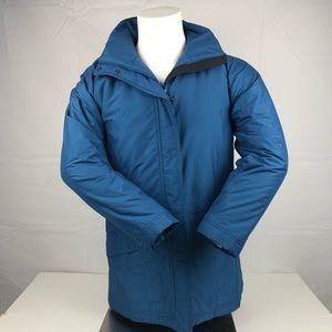 LL Bean Blue Winter Coat Zip Up Thinsulate Jacket